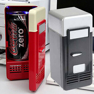 5V Car PC Tiny USB Cola Drink Fridge Can Cooler/Warmer Refrigerator Freezer red