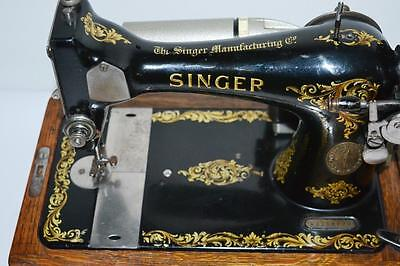 1910s Singer 28K Sewing Machine Rococo Decal Electric Conversion [PL2001]