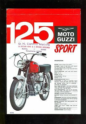 Moto Guzzi 125 Sport Specification Sheet