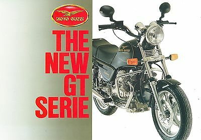 1988 Moto Guzzi Gt Series Motorcycles Sales Sheet
