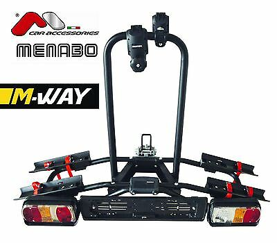 M-WAY Seagull Titling Tow Bar 2 Cycle Bike Carrier with Lights 7 Pin 30KG