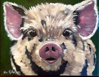 Pig Print pig art pig decor from original painting 11x14, signed by artist