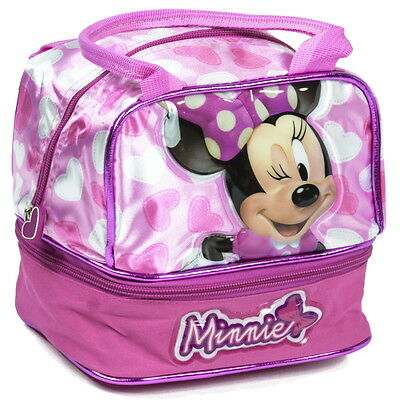 NEW OFFICIAL Minnie Mouse Disney Girls Kids Cool Lunch Sandwich Bag Box Lunchbag
