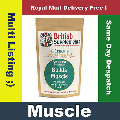 Clean L-Leucine Capsules, Build Muscle, Weight Loss, Gym, Workout Enhancer UK