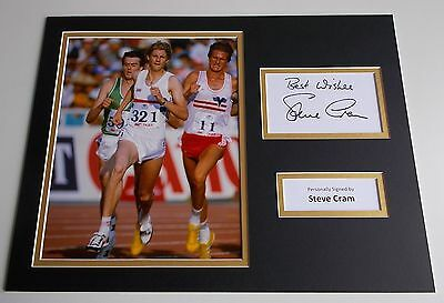 Steve Cram SIGNED autograph 16x12 photo display Olympics Athletics AFTAL & COA