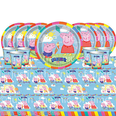 PEPPA PIG Table Ware Plates Cups Napkins BIRTHDAY PARTY KITS 8 - 48 Guests