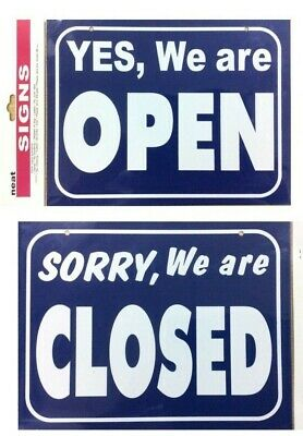 Open / Closed Sign Double sided  Hanging Shop Sign - Shop Window / Door Sign