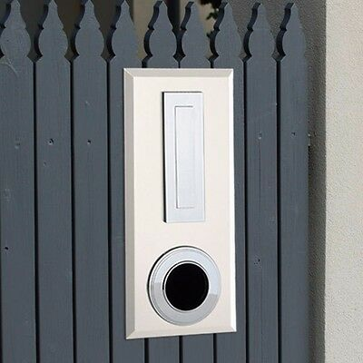 Milkcan Letterbox Picket Fence Mount Cream Steel Mailbox Ring
