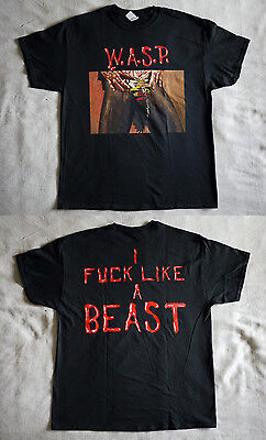 """W.A.S.P. official T-shirt """"Animal"""" black New (S,XL)"""