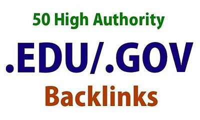 50 High Authority Edu/Gov Backlinks for Your Website - Google SEO