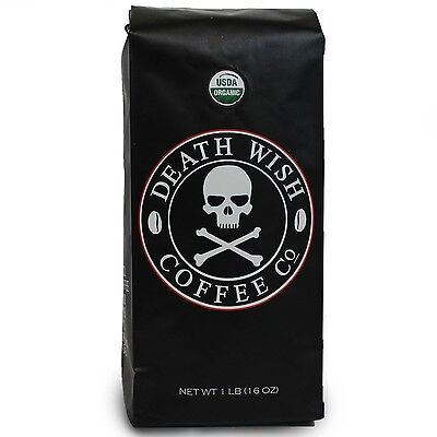 Death Wish Coffee The World's Strongest Ground Coffee Beans Fair Trade and Or...