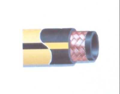 "Gates 500MP Air Drill Hose 2"" x 100ft. 500 psi - Black with yellow stripe"