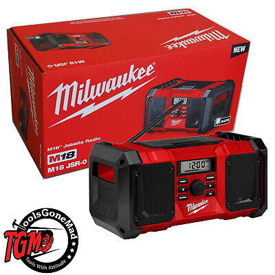 Milwaukee M18 M18Jsr-0 Ac/dc Job Site Radio 240V Au Stock New In Retail Pack