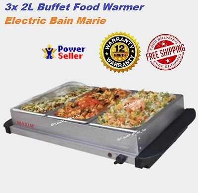 Large Electric Buffet Food Warmer Bain Marie Function Party Meat Meal Heater NEW