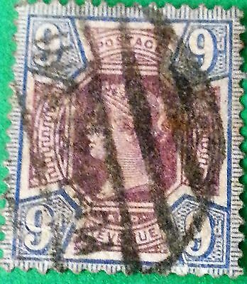 UK Great Britain GB Sc # 120 9d 1887 to 1892 FU NH Stamp CV$ 42.50