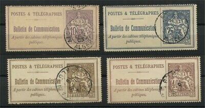 France, 4 Different Telephone Stamps 1900-06 Used
