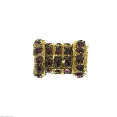 Antique Indian Element for Jewelry - Gold and Rubies    -   (1002)