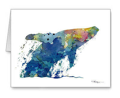 HUMPBACK WHALE note cards by watercolor artist DJ Rogers