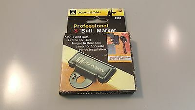 """Professional 3"""" Butt Marker Plate by Johnson #2030 #"""