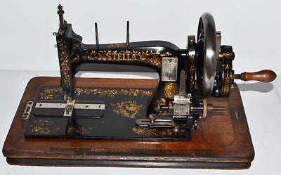 Antique Clemens Muller STELLA Hand Crank Sewing Machine - FREE Delivery [PL2004]