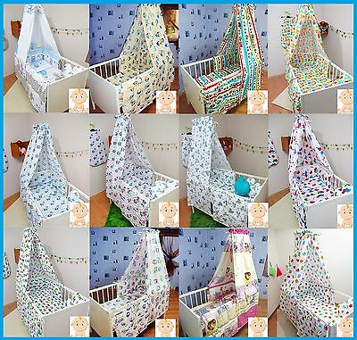 BABY COT BED CANOPY PATTERNED 100% Cotton Fabric