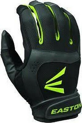 1 Pair Easton Stealth Core Large Black / Optic Fastpitch Womens Batting Gloves