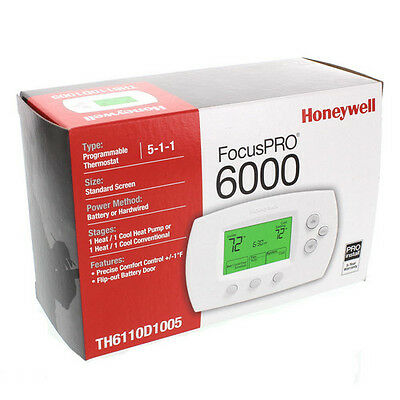 New Honeywell Focuspro 6000  Th6110D1005 Programmable Thermostat Best Price F/s
