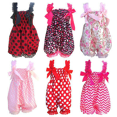 Newborn Infant Baby Girl Floral Ruffle Romper Dress Tutu Lace Clothes N3