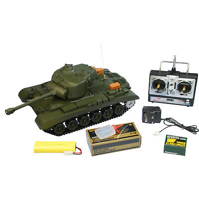 New 1:16 2.4G Remote Control Snow Leopard Airsoft Tank Smoking BB RC Tank