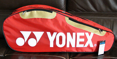 Brand New Yonex 9627 Badminton Bag (RED) - Hold 2-4 Rackets, the Newest Style.