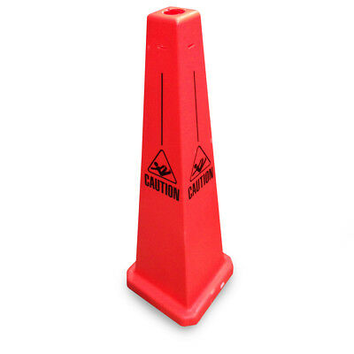 """JSP CLOFF1230 Orange 35"""" Safety Cone 'Caution' with Fallen Man - Slotted Type"""
