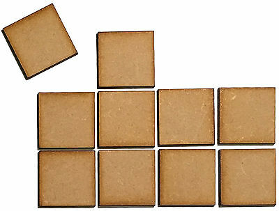10 x Wooden Square Laser Cut MDF Blank Small Medium Large Craft Decorations