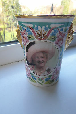Sutherland Queen Mother Beaker 75 Glorious Years Limited Edition Lionhead 1998