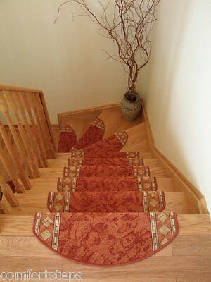 Set of 15 Beautiful Carpet Stair Mats Stair Rugs Treads - LIMITED TIME OFFER!