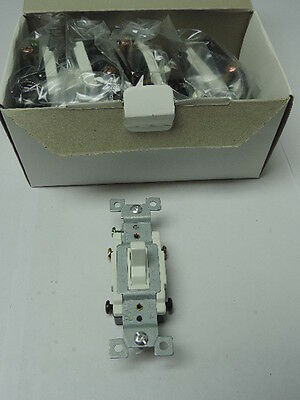Lot of 10 White Heavy Duty Grounding 4-Way Toggle Wall Light Switch 15A 120-277V