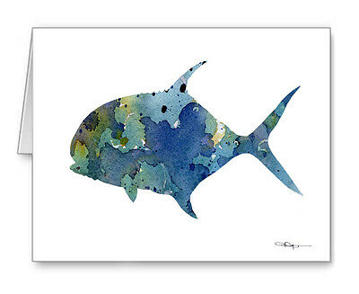 PERMIT FISH Note Cards With Envelopes