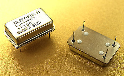 2pc 8 MHz Full Size 5V TTL Crystal Oscillator VF150-8.000000MHz Valpey Fisher