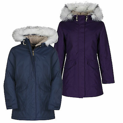 Craghoppers Girls Kyle Parka Waterproof Insulated Quilt Lined School Coat