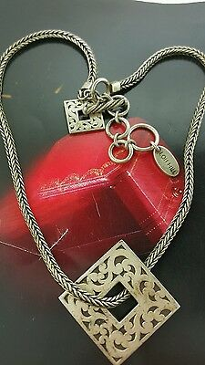 """Vintage Lois Hill Necklace Sterling Silver 925  51.3 Grams 17""""long"""