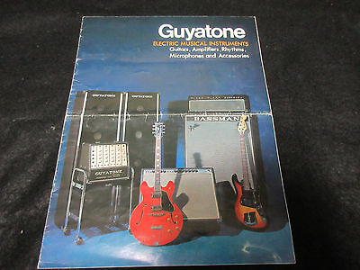 Guyatone Electric Guitar Amp Bass Guitar Fuzz Japan Catalog Guya