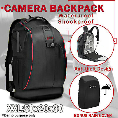 Camera Backpack Bag Case Waterproof Shockproof DSLR SLR for Canon EOS Nikon Sony