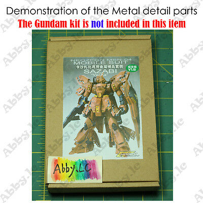 CJ Metal Details up Parts Set For Bandai MG 1/100 Sazabi ver ka Gundam Model Kit