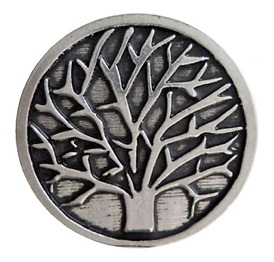 Tree Of Life Pewter Pin Badge - Hand Made in Cornwall - B185