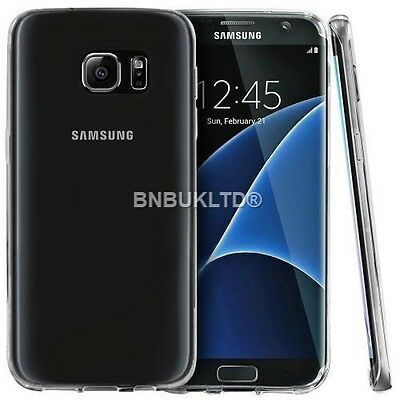 Transparent Clear Silicone Ultra Slim Gel Case and Screen Protector for Samsung