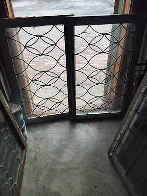 Sg 647 Two Available Price Separate Antique Leaded Glass Figure 8 Design