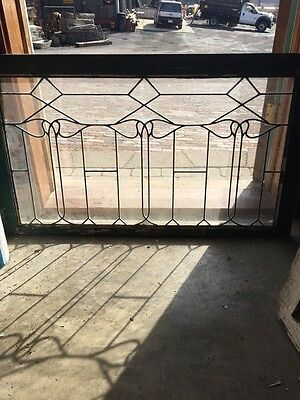 Sg 652 Antique Leaded Glass Window Six Leaves
