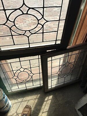 Sg 655 Three Available Price Each Antique Portable Windows Leaded Glass