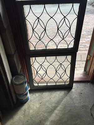 Sg 657 Antique Leaded Glass Window Two Available Priced Each