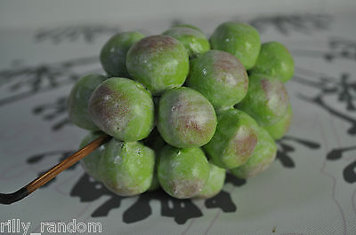 Fake Faux Decorative Bunch of Green Grapes  In Beautiful Condition