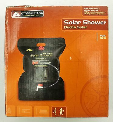 NEW Ozark Trail All Purpose SOLAR SHOWER 5 Gal 18.9L SS-01